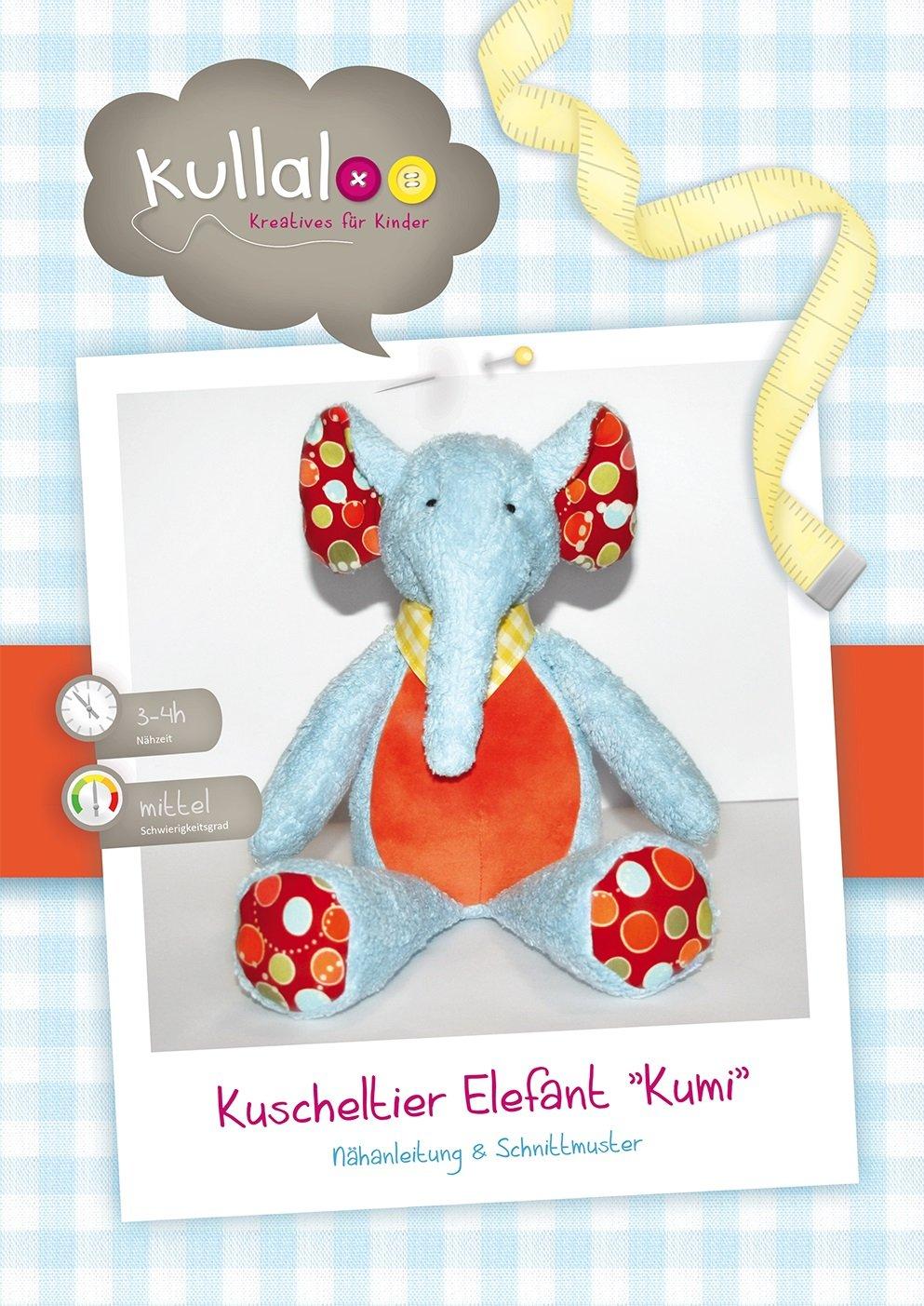 kullaloo - Schnittmuster & Nähanleitung für Kuscheltier Elefant ...