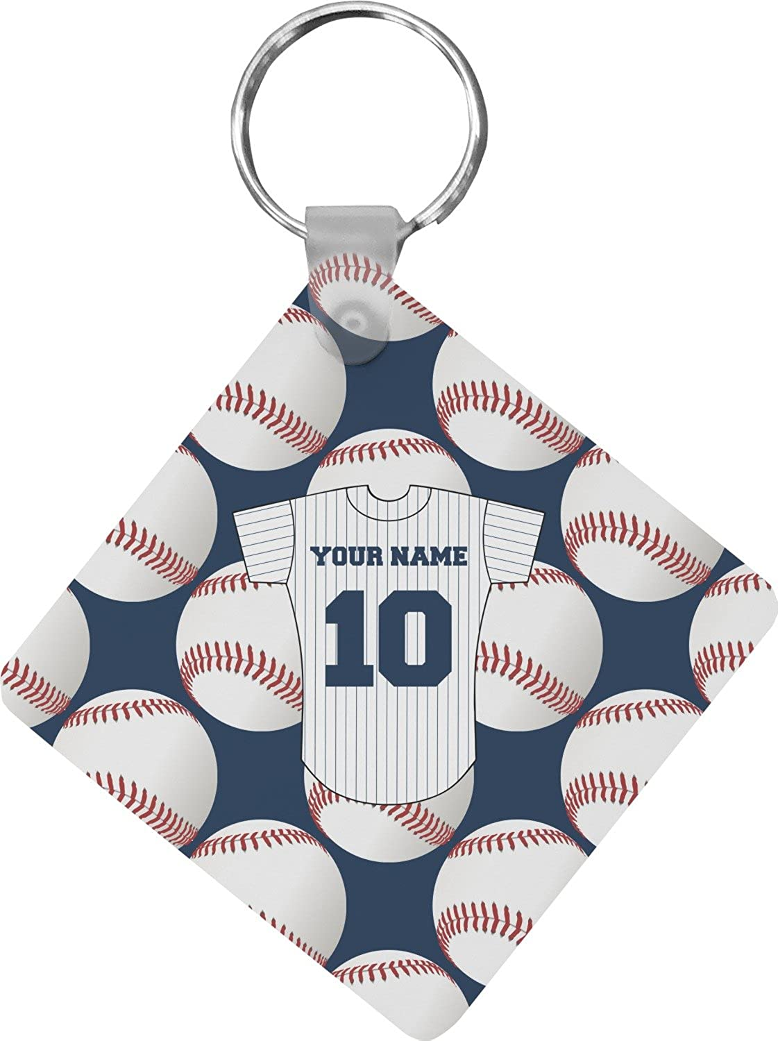 Baseball Jersey Diamond Key Chain (Personalized)