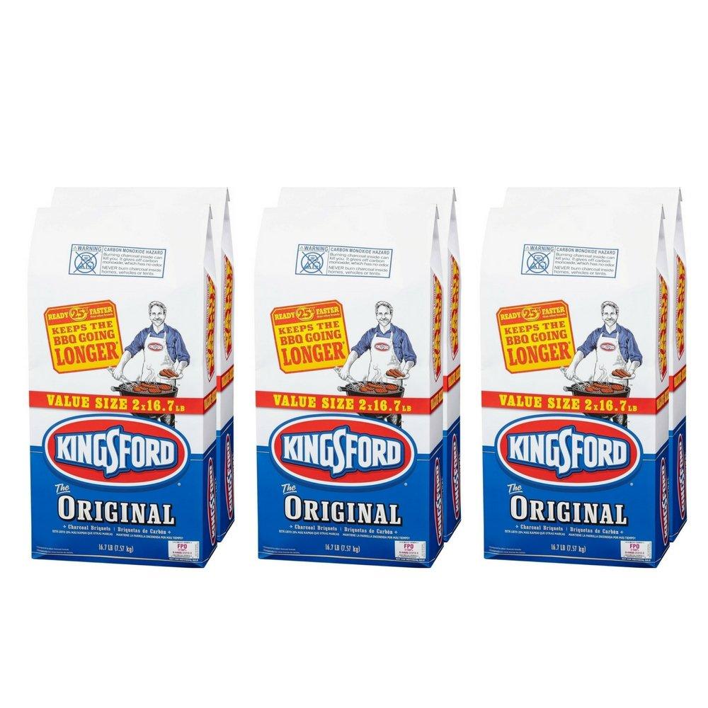 Kingsford Original Charcoal Briquets, 16.7 lbs (6 Counts)