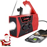 [2021 Premium Version] Emergency-Solar-Hand-Crank-Radio,Puiuisoul Portable NOAA Weather Radios with AM/FM, Alarm,Reading…