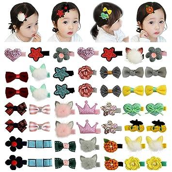 40pcs//lot Baby Girls Kids Children Toddler Mini Flowers Hair Clips Bow Hairpin