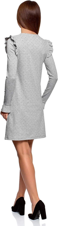 oodji Ultra Mujer Vestido con Volantes y Puños Acampanados: Amazon ...