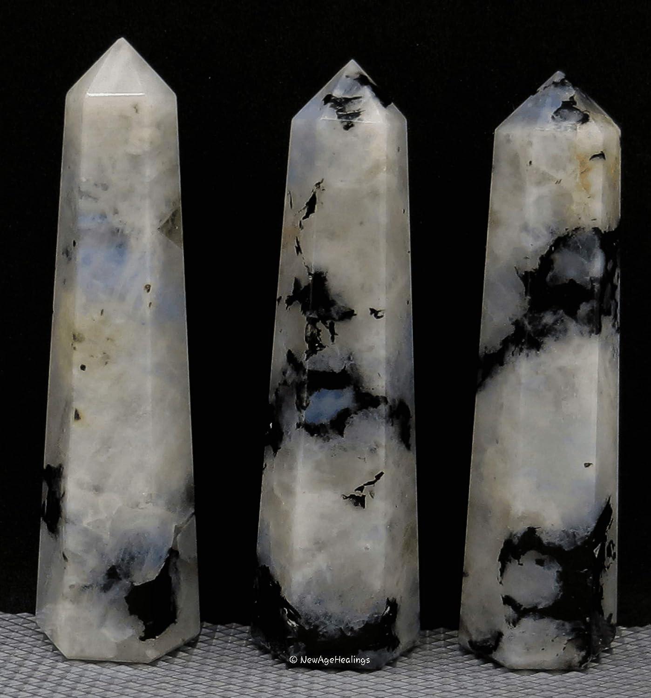rainbows!8.4 /'/' Natural clear black tourmaline rutilated Quartz Crystal Obelisk Wand Point crystal Healing-B62