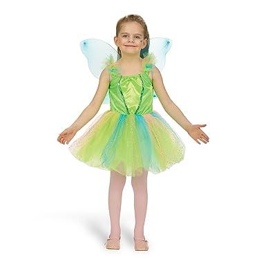Elbenwald Schmetterling Kleid mit Flügeln Kostüm Mädchen Kinder Tüll Schleifen Glitzer