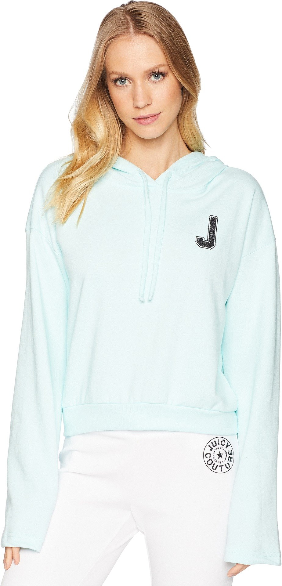 Juicy Couture Womens French Terry Logo Hoodie Blue XS