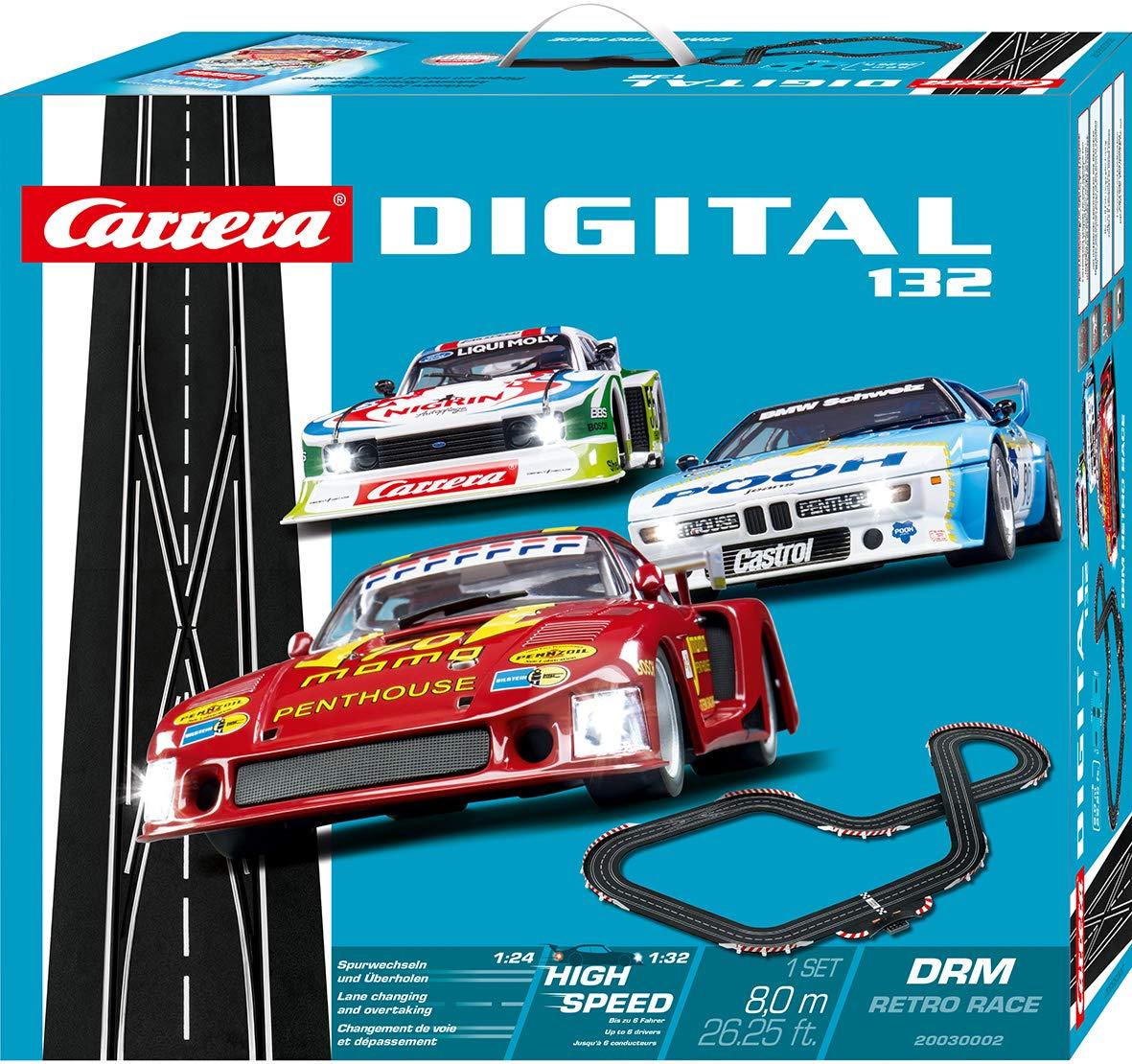 Carrera Digital 132-DRM Retro Race Circuito de Coches (20030002): Amazon.es: Juguetes y juegos