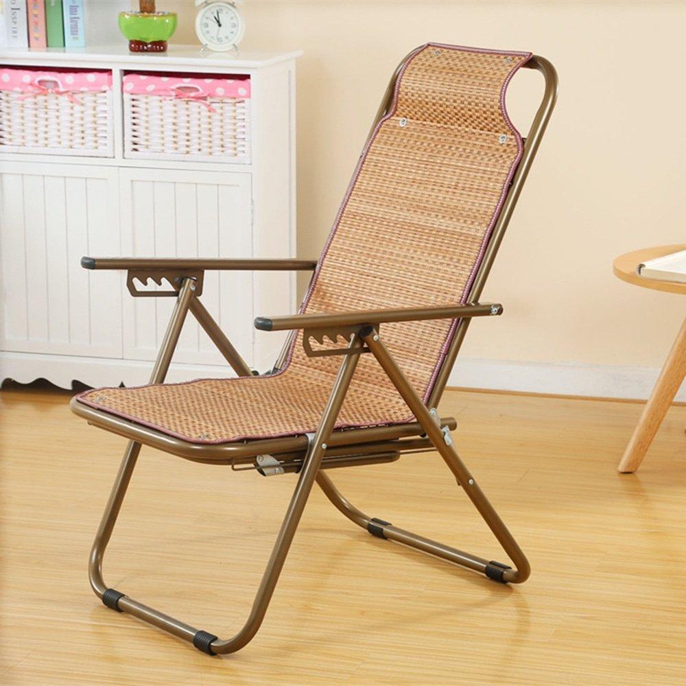 QFFL 竹マット多機能調節可能な折りたたみ椅子/バルコニーラウンジチェア/屋外実用補強リクライニング/オフィスシエスタ背もたれ椅子 アウトドアスツール (色 : B, サイズ さいず : 1#) B07F5XKJFP  B 1#