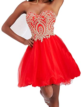 Ovitina Short For Junior Cheap 2016 Blue Red Strapless Bodycon Beaded Prom Dress Red us2