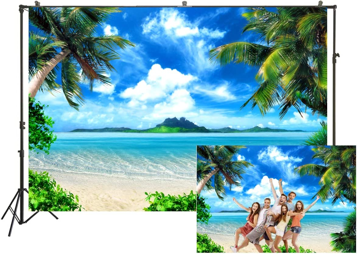 Summer Beach Photography Backdrops Ocean Tropical Photo Booth Wedding Party Decoration Background Studio Props Vinyl 7x5ft XT-6594