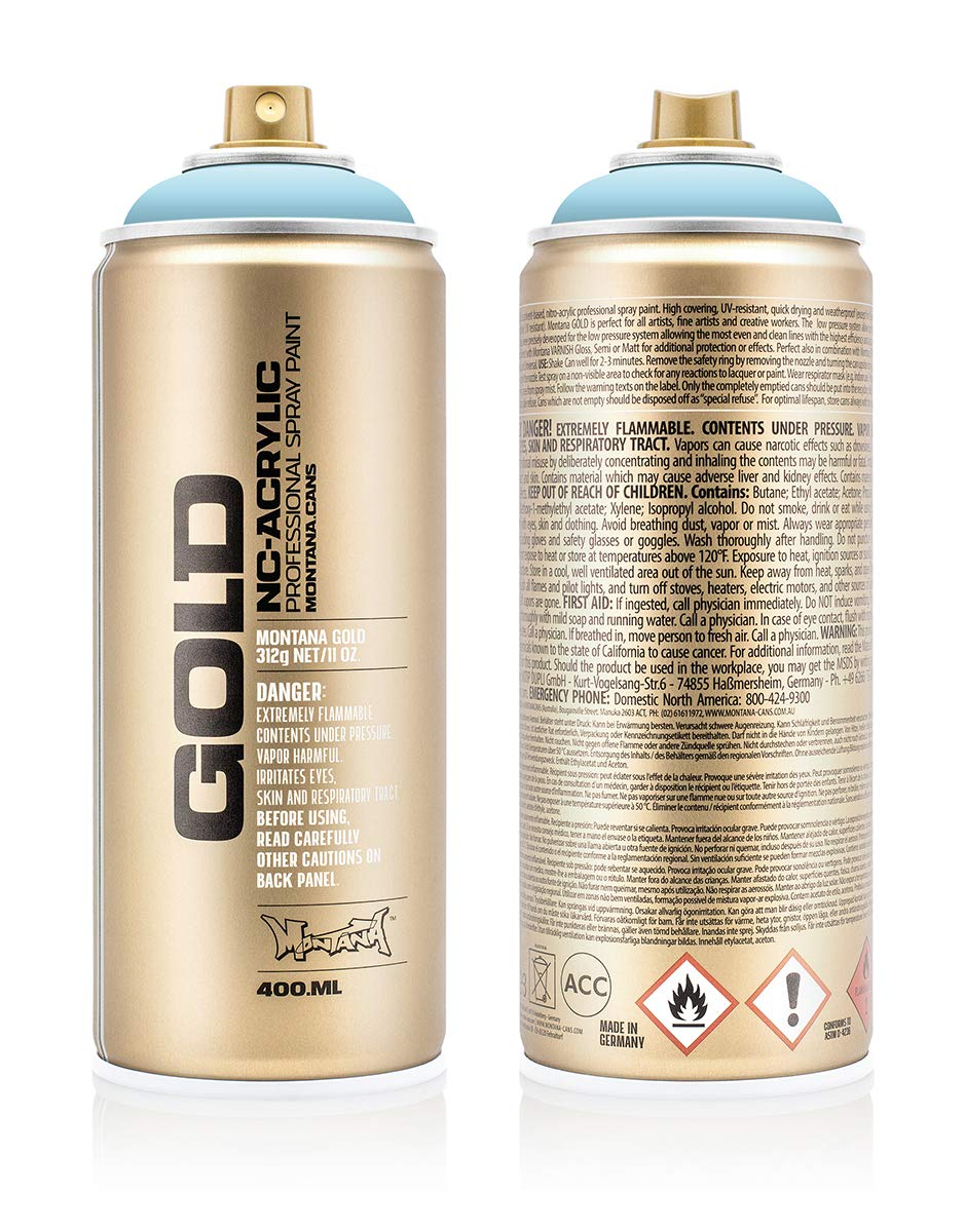 Montana Cans 284731 Spray Dose Gold, Gld400, 5010, 400 ml, Fresh Blue