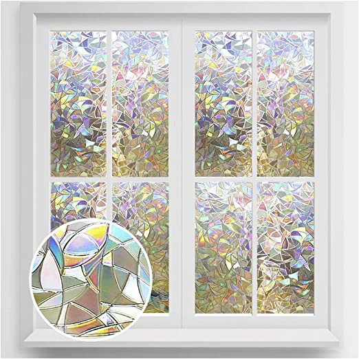 RABBITGOO Window Film Static Cling Privacy Glass Window Cling Frosted Window Film Non Adhesive Window Sticker for Home Kitchen Office Meeting Room Living Room 17.5 x 78.7 44.5 X 200CM