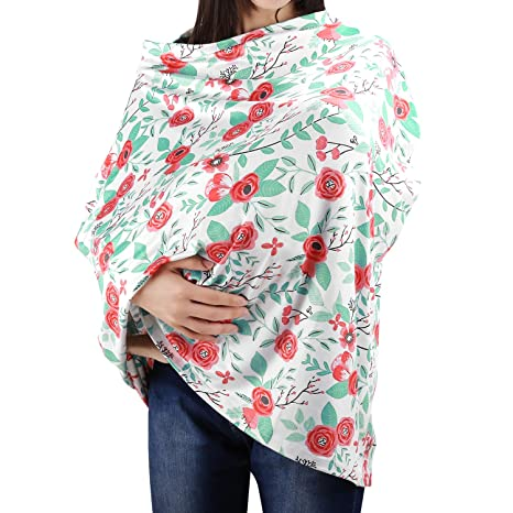 Baby Mum Breastfeeding Nursing Udder Cover Thin Cotton Towel Cover Up Blanket