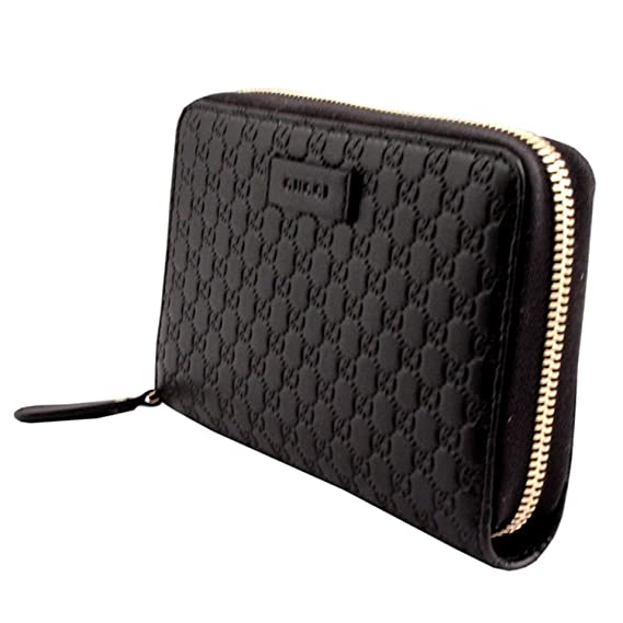 b6100d2fcb52 Gucci Microguccissima leather wallet round zipper wallet black 449391 BMJ 1  G 1000: Amazon.co.uk: Clothing