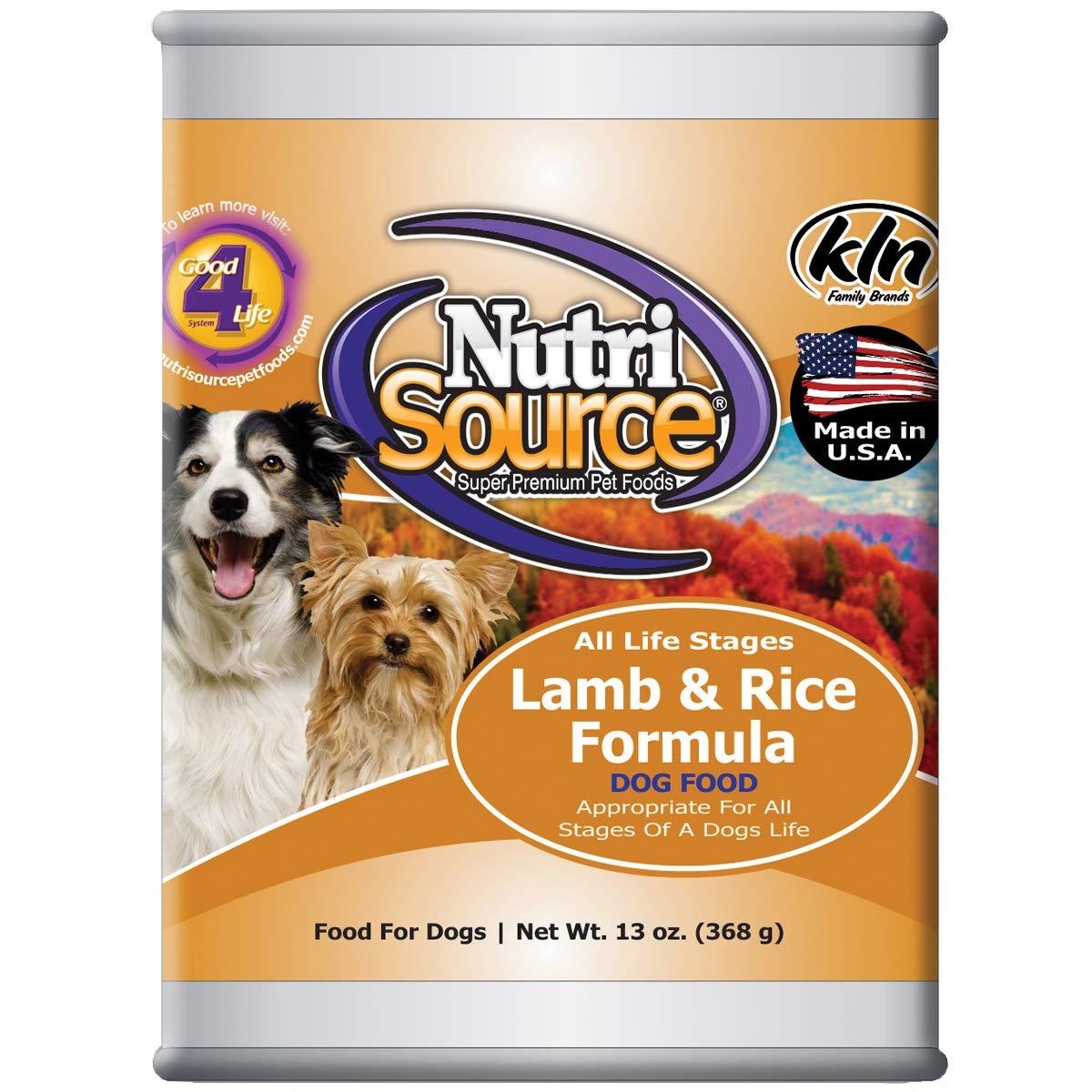 NutriSource Lamb & Rice Canned Dog Food 12 13 oz Case