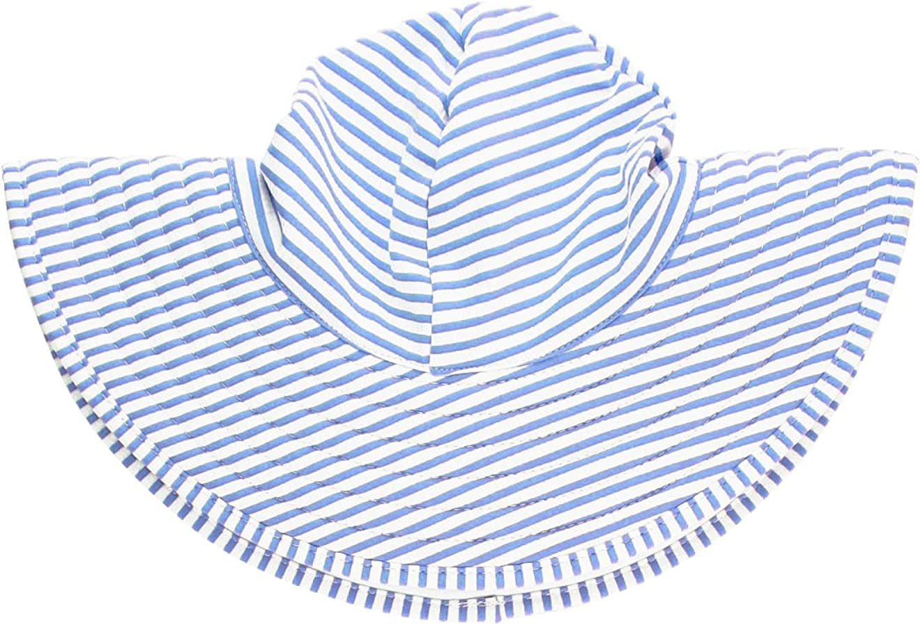 RuffleButts Baby/Toddler Girls UPF 50+ Sun Protective Wide Brim Swimwear Sun Hat