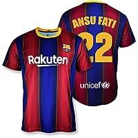 Camiseta Replica FC. Barcelona 1ª EQ Temporada 2020-21 - Producto con Licencia - Dorsal 22 Ansu Fati - 100% Poliéster…