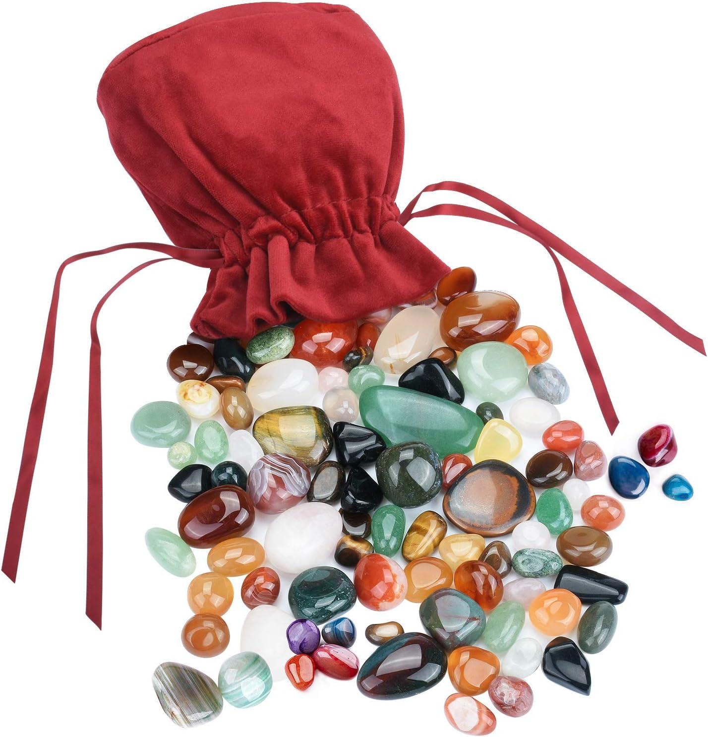 Kit de más de 80 piezas Mini Piedras naturales variadas para joyería DIY sobre 200g