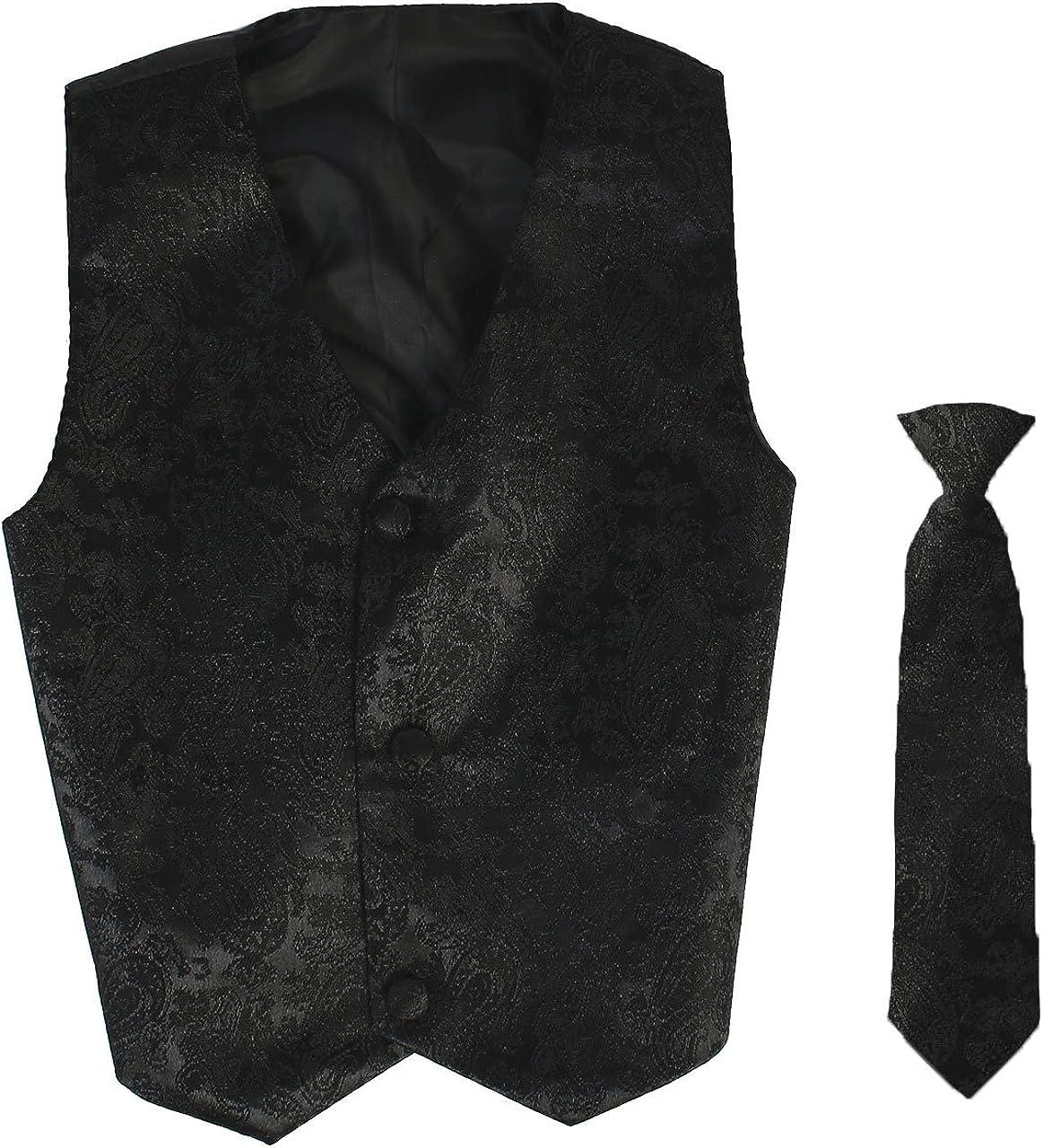 Vest and Clip On Necktie Set-Multiple Colors-Baby Infant Toddler Boys Sizes