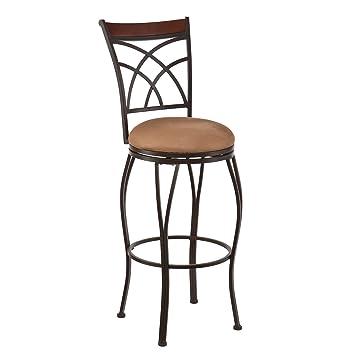 Incredible Amazon Com Swivel Counter Stool Sturdy Steel Frame Plush Dailytribune Chair Design For Home Dailytribuneorg