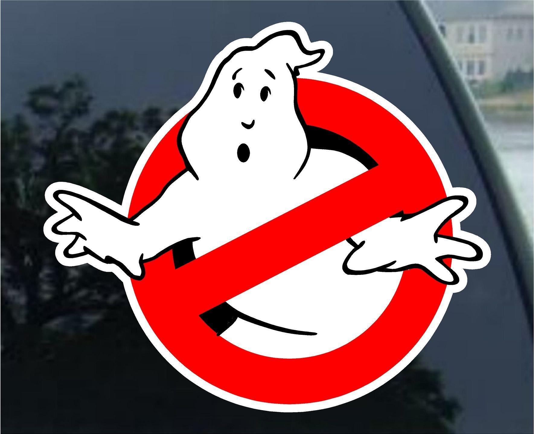 """Ghostbusters car Bumper Sticker Decal 4"""" x 4"""""""