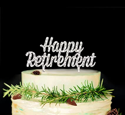 Amazon Com Happy Retirement Cake Topper Retirement Party Supplies