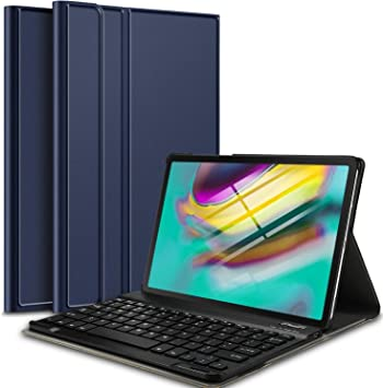 IVSO Teclado Estuche para Samsung Galaxy Tab S5e 10.5 T720/T725 (QWERTY English), Slim Stand Funda con Removible Wireless Teclado para Samsung Galaxy Tab S5e T720/T725 10.5 2019, Azul: Amazon.es: Electrónica