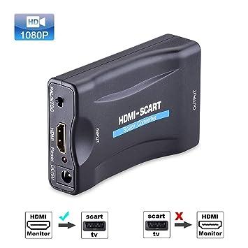 Tiancai HDMI a Scart Converter FULL HD 1080P compatible con CRT TV ...