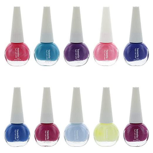 Tweets Finger Nail Polish Color Lacquer Collection Set (10 Piece Set 2)