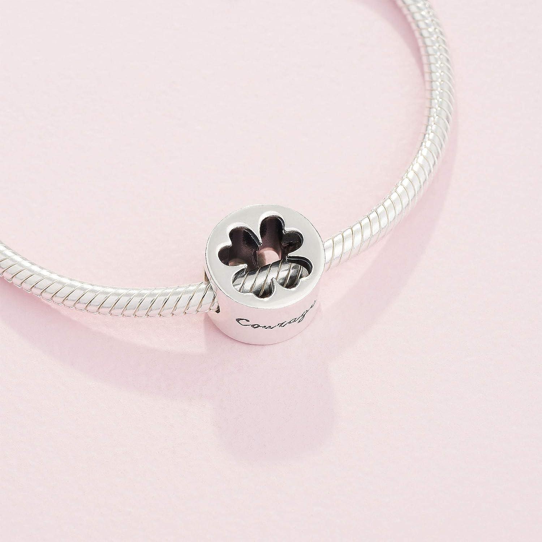 Bracelet plate clover Lucky Charm 28Farben