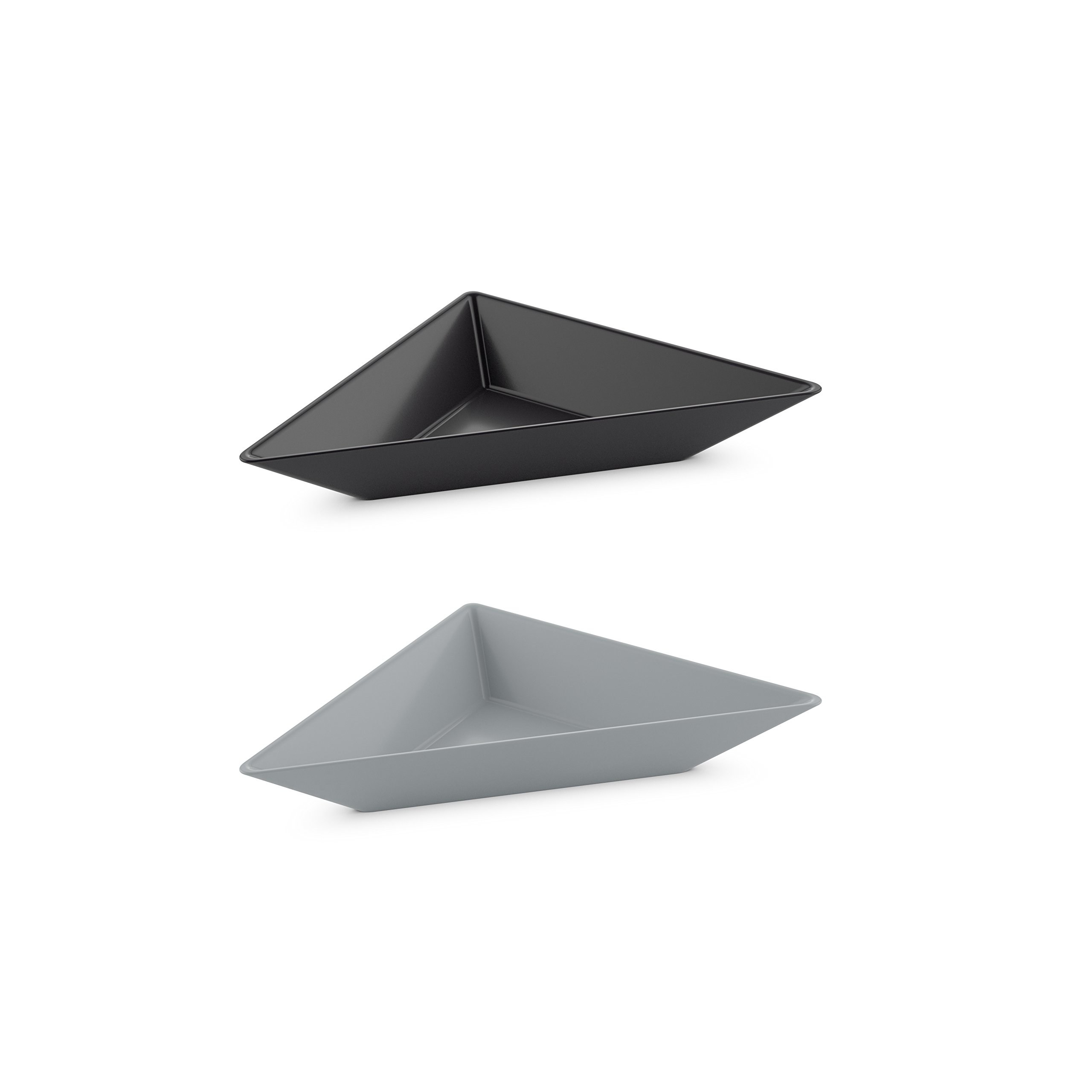 Koziol 3481412 Tangram 3'' Serving Bowl Set, One Size, Cool Grey/Cosmos Black