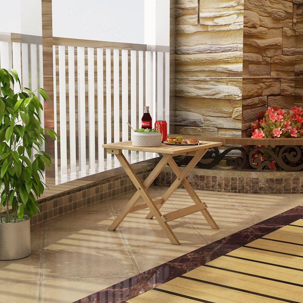 Songmics Bambus Beistelltisch Klapptisch Klapptisch Holz Tisch ...