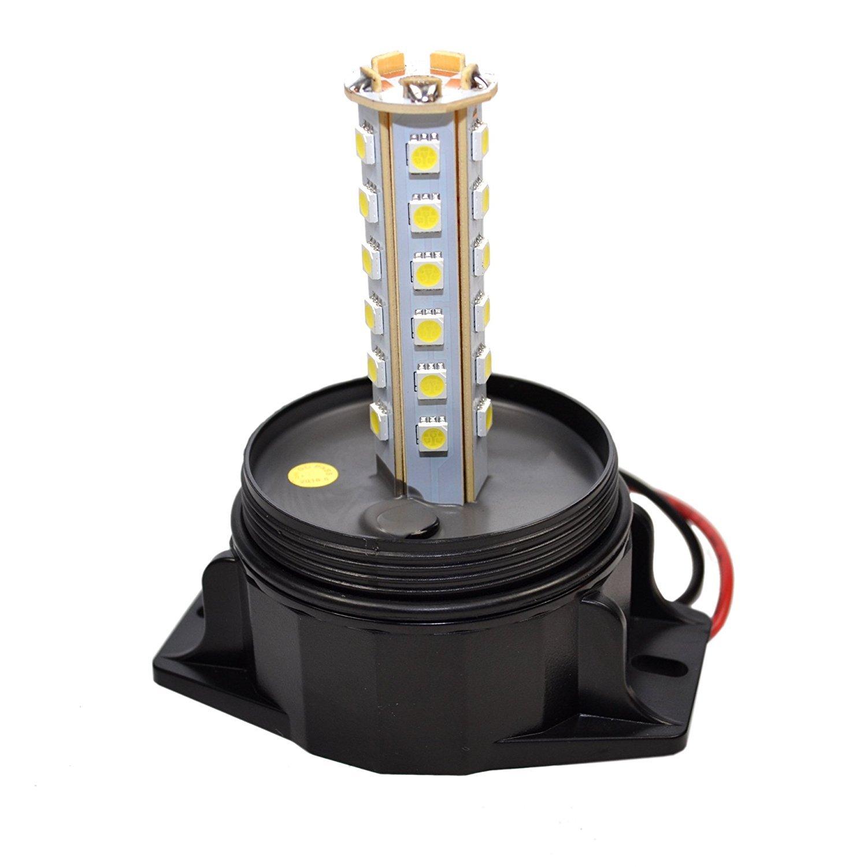 E5000 36V // 48V Electric Rider Forklift E4000 36V // 48V HQRP Coaster HQRP 30-LED 360 Degrees Mini Beacon Amber Warning Strobe Light for CAT E3500 48V