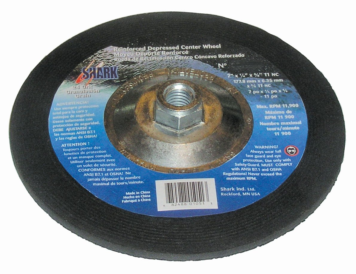 Shark SDP902N    9-Inch by 0.25-Inch by 0.875-Inch Hubless Depressed Center Wheel with Grit-24