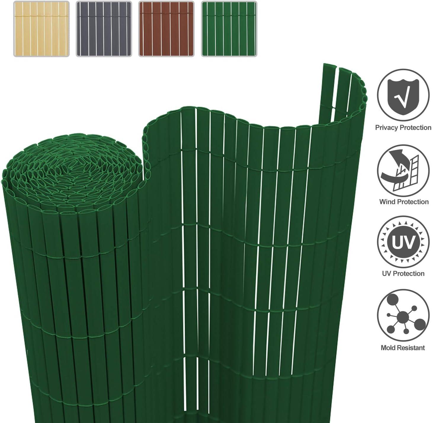 wolketon Estera de PVC Protecci/ón Privacidad//Gris 80x400cm// Protector contra el Viento para Jard/ín Balc/óny Terraza//UV-Resistente Lavable