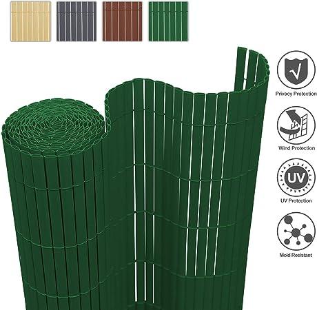 Wolketon Canisse En Pvc Brise Vue Pour Jardin Balcon Terrasse Resistant Aux Uv Occultant Vert 180x800cm Amazon Fr Jardin