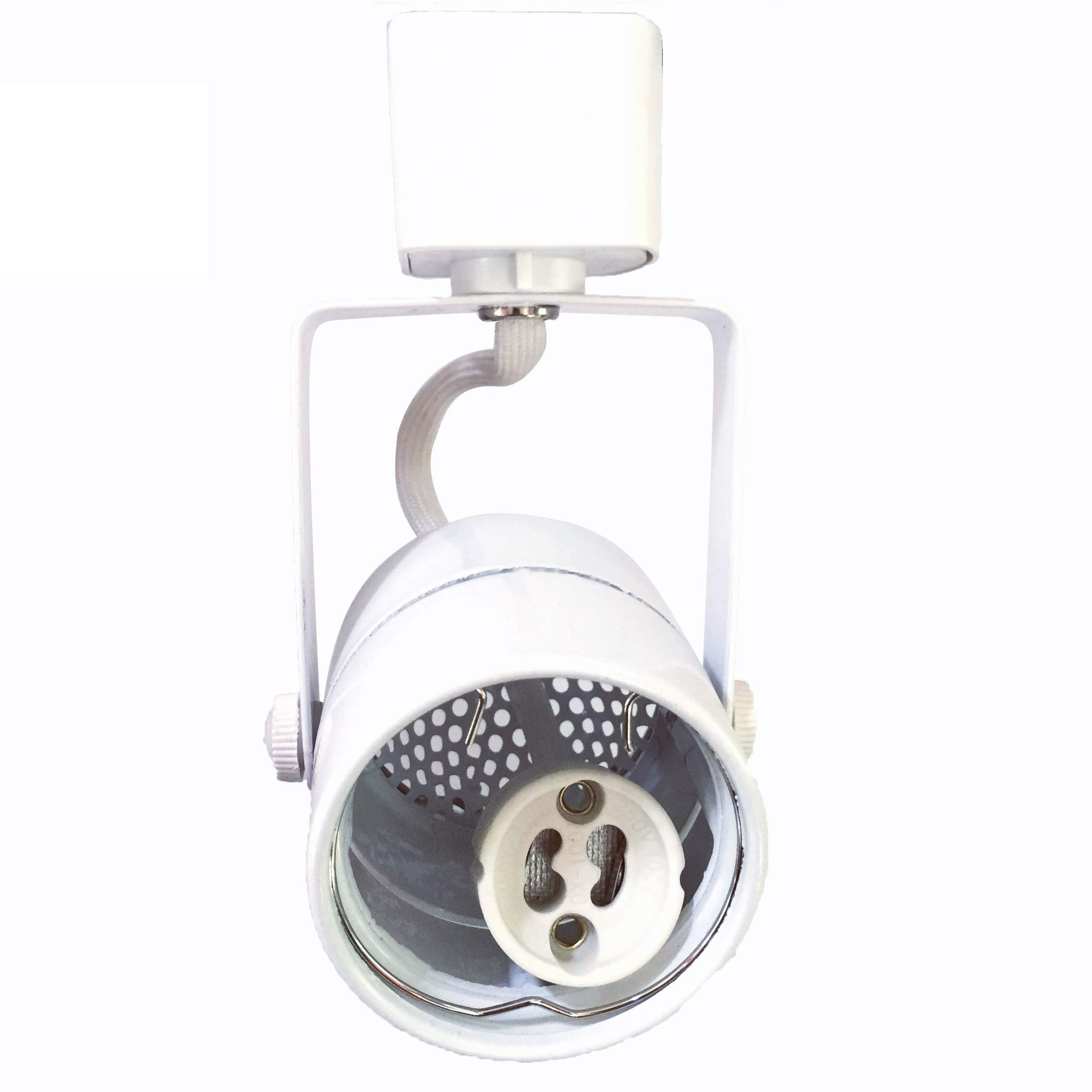 KING SHA White GU10 Line Voltage Track Lighting Head (Bulb NOT Included) Compatible H Type 3-Wire Single Circuit Track Systems,ETL-Listed