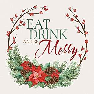 Carson Holiday Eat Drink And Be Merry Trivet