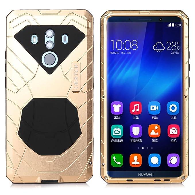 Huawei Mate 10 Pro Case, Cresee Hybrid Armor Aluminum Metal Shockproof Bumper Frame Case Soft