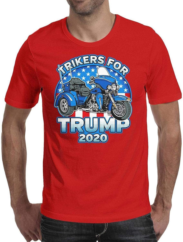 back-print Trump 2020 Motorcycle T Shirt Bikers For Trump