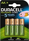 Duracell HR6DX1500 Recharge Ultra Type AA Batteries, 2500 mAh, Pack of 4