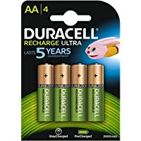 Duracell 2500mAh Pre Charged Rechargeable AA Batteries - Pack of 4