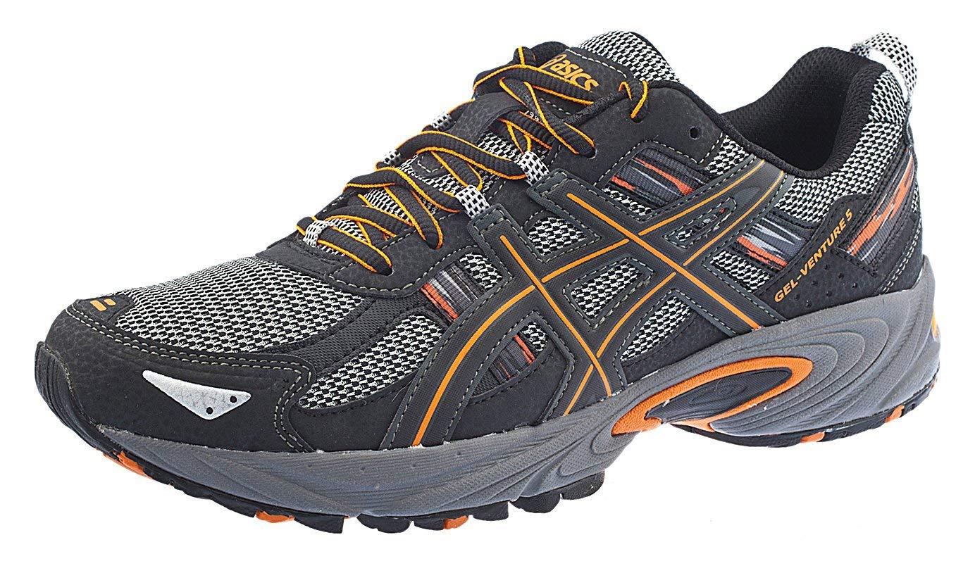 ASICS Men's Gel Venture 5 Running Shoe (8 D(M) US, Black/Shocking Orange)