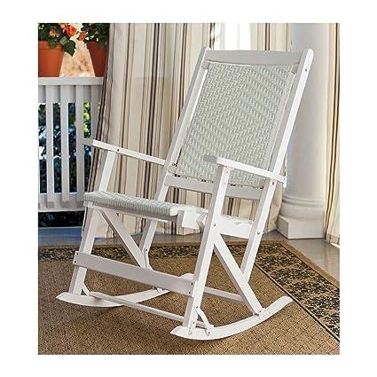 Peachy Amazon Com Plow Hearth Folding Wicker Outdoor Rocker Inzonedesignstudio Interior Chair Design Inzonedesignstudiocom