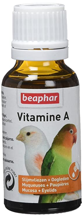 Beaphar BEA16108 Suplemento Alimenticio, Vitamina a para Pájaros - 20 ml: Amazon.es: Productos para mascotas