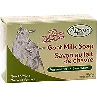 Alpen Secrets Fragrance Free Goat Milk Soap, 140 gr (Pack of 4)