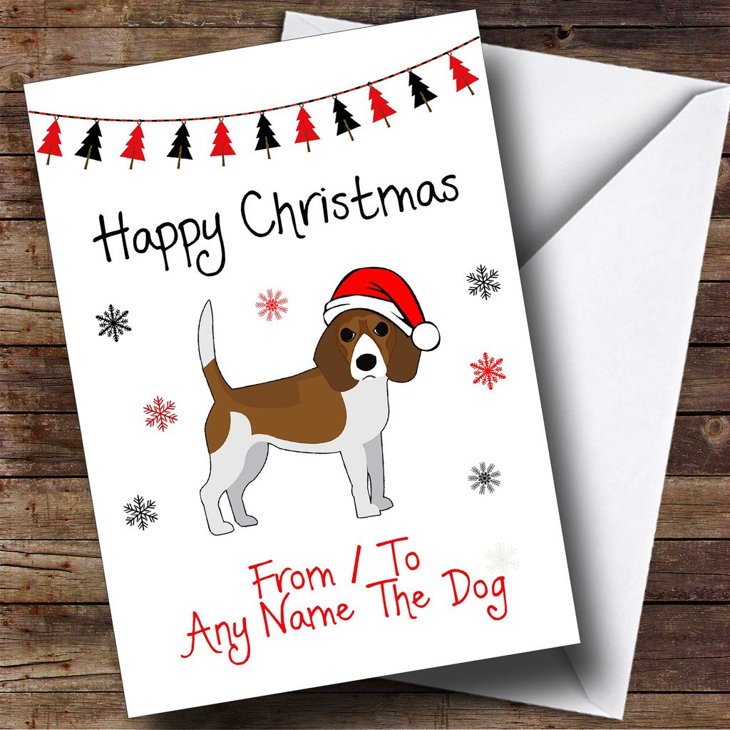 Amazon.com : Beagle From Or To The Dog Pet Personalized Christmas ...
