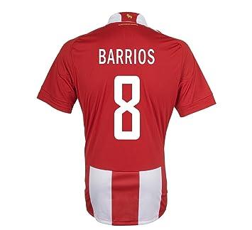Adidas Barrios #8 Paraguay Camiseta 1ra Futbol (Tamaño De Los EEUU) (L