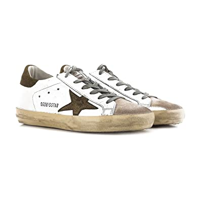 4d17691f23897 Golden Goose Deluxe Brand Superstar White Metallic Sneakers G32WS590.E52 Size  36 (5