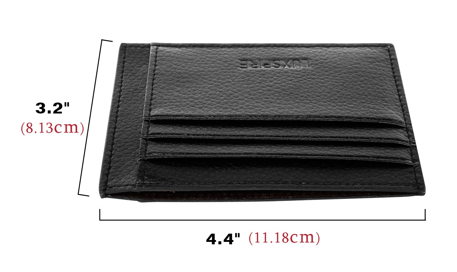 Money Clip Credit Card ID Card Business Card Holder Purse Luxspire Front Pocket RFID Blocking Leather Slim Wallet