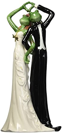 Appletree Design Wedding Couple Frog Figurine, 12-Inch Tall